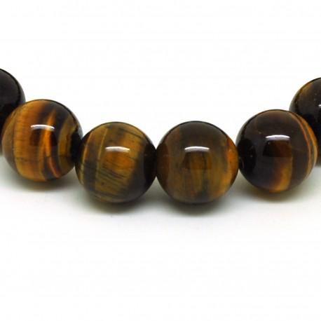 Bracelet perles 12 mm, Oeil de tigre