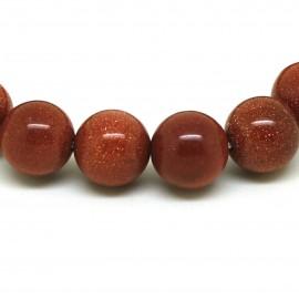 Bracelet perles 12 mm, Pierre de soleil