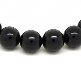 Bracelet perles 12 mm, Onyx