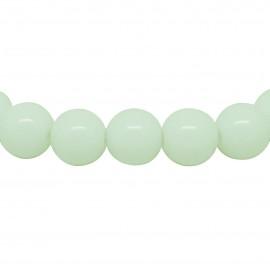 Bracelet Albatre, perles 8 mm