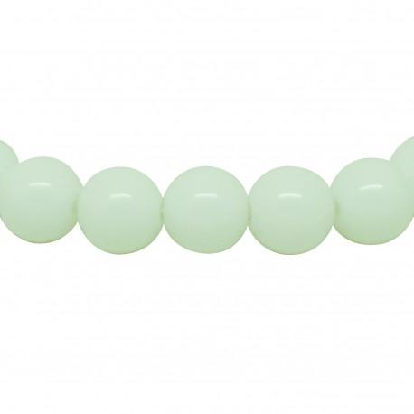Bracelet perles 8 mm, Albatre