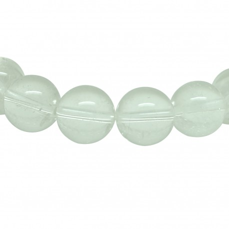 Bracelet perles 12 mm, Cristal de roche