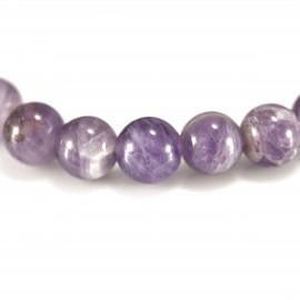 Bracelet Améthyste 2, perles 8 mm