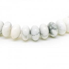 Bracelet perles rondelles, Howlite