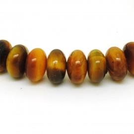 Bracelet perles rondelles, Oeil de tigre