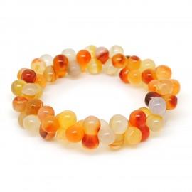 Perles d'amazonite, Bracelet ADN Cornaline