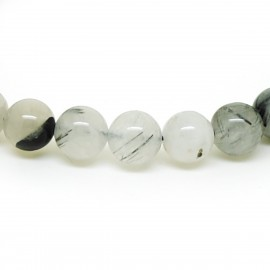 Bracelet perles 8mm, Quartz tourmaline