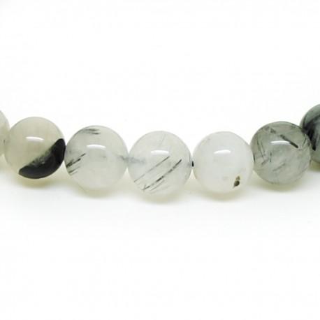 Bracelet perles 8mm, Quartz tourmaline