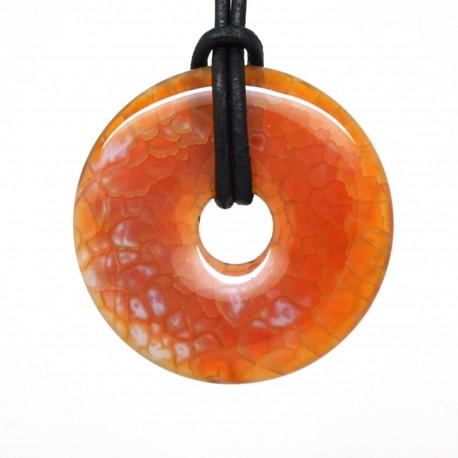 Donuts Pierre, rond d'agate feu 40mm