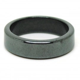 Bague Pierre plate Hématite 5 mm