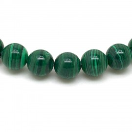 Bracelet Malachite, perles 8 mm