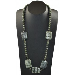 Collier Pierre Chrysotile Serpentine