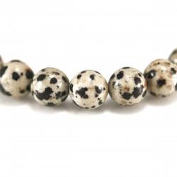 Bracelet Pierre, perles de Jaspe Dalmatien