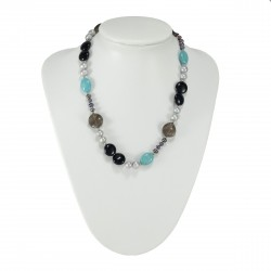 Collier Pierre Anne, Turquoise et Onyx